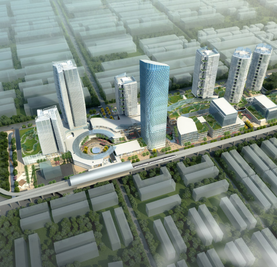 Fig 1. Rendering from Sime Darby Property showing the SJ7 TOD project ( http://www.simedarbyproperty.com/tod/ )